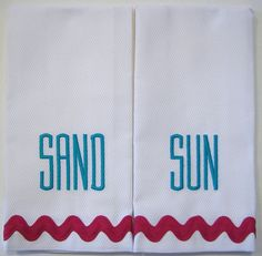 Spring 2012 - client created custom towels for Mother's Day gift.
