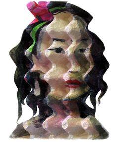Mujer con flor en el pelo de Enno de Kroon