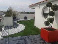 Drought Tolerant Landscape, Garden Design, House Design, Exterior, Front Yard Landscaping, Garden Planning, Patio, Architecture, Gardening