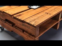 Charming DIY Pallet Coffee Table Designs - YouTube