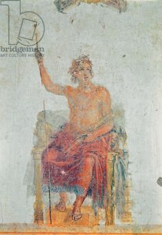 Alexander the Great, possibly as Zeus (fresco). Roman, (1st century BC), perhaps based on an original painting by Apelles; House of the Vettii; Alexander the Great (356-323 BC) King of Macedonia;