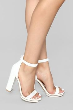 High Heels for All Occasions - Stilettos, Platforms & Pumps – 2 – Fashion Nova Robes De Confirmation, Glamouröse Outfits, High Heels Boots, White High Heels, Heel Boots, Blue Heels, White Heeled Sandals, White Wedding Heels, Strappy Sandals