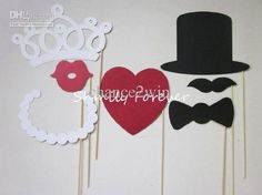 Wedding photo props - combine with Christmas Photo Props...  ???
