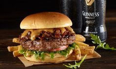 Hard Rock Cafe Created A Burger With Whiskey Bacon Jam And Guinness Beer Cheese For St. Paddy's Day