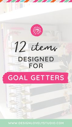 """Ready to crush your goals? Check out this new blog post, """"12 items designed for goal getters"""" from Design Lovely Studio! From planner goodies to motivational items, you'll find what you need to stay on track toward your greatest ambitions. #plannerstickers #printables #goals #diy #plannerlove #productivity Sticker Organization, Organization Hacks, Organizing, Planner Tips, Happy Planner, Printable Planner Stickers, Printables, Planner Dashboard, Planner Decorating"""