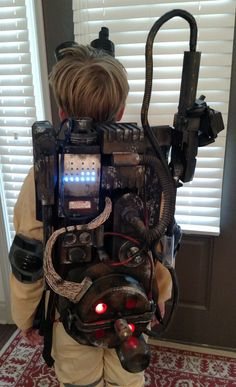 Son wanted a ghostbusters proton pack, so challenged myself to a 3-day build. This was the result. - Imgur