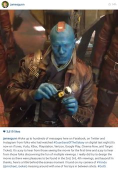Guardians of the Galaxy Yondu Udonta, Hooked On A Feeling, Michael Rooker, James Gunn, Star Lord, Marvel Fan, Me Tv, Super Heros, Guardians Of The Galaxy