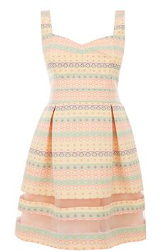 We heart this fluorescent stripe dress from the Rebecca Lefevre collection.