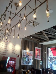 Nandos Peri Peri (Bethesda, MD): Love the décor! Hate the sides! [Pictured: Amazing Lights]