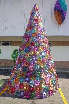 decoração reciclada de natal - Pesquisa Google