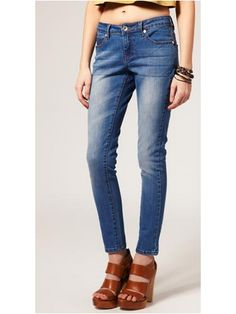 What To Look For: Petite girls should stick with a slim-cut pair of jeans. Try a cute boot-cut or sexy, cropped skinnies.    ASOS PETITE Exclusive Light Blue Skinny Jean, $55.40, us.asos.com