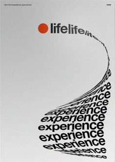 "poster Life-Experience poster - Text taking shape to form the object it describes. in this case, a ""long list"" of life experience""Life-Experience poster - Text taking shape to form the object it describes. in this case, a ""long list"" of life experience"" Type Posters, Graphic Design Posters, Graphic Design Typography, Poster Designs, Poster Styles, Cool Posters, Poster Design Inspiration, Typography Inspiration, Study Inspiration"