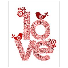 Love in red print by valentine design My Funny Valentine, Happy Valentines Day, Valentine Ideas, Valentine Images, Printable Valentine, Homemade Valentines, Valentine Box, Valentine Wreath, Valentine Crafts