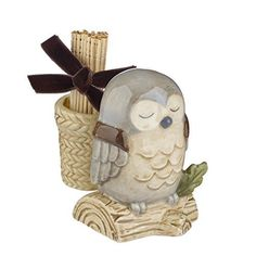 Ceramic Owl Toothpick Holder just got this to add to my collection love it 2015 Owl Kitchen Decor, Thing 1, Ceramic Owl, Owl House, Whimsical, Decoration, Ceramics, Tooth, Gifts