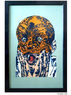 The Mask. Stencil Graffiti, Stencils, Artworks, Street Art, Painting, Art Pieces, Paintings, Templates, Draw