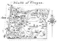 Wealth of Oregon map