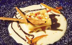 "Cannoli di tortiglioni, rivisitati con ricotta, su infusione di mandarini ""marzaioli""  #lamadia #lamadiatravelfood #food"
