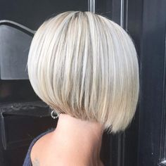 Top 15 Short Inverted Bob Haircuts Trending in 2020 Short Inverted Bob Haircuts, Short Length Haircuts, Bob Haircuts For Women, Bob Hairstyles For Fine Hair, Short Hair Cuts For Women, Short Hair Styles, Blonde Inverted Bob, Short Blunt Haircut, Grey Haircuts