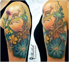 Peter Žuffa 2016 #art #tat #tattoo #tattoos #tetovanie #original #tattooart #slovakia #zilina #bodliak #bodliaktattoo #bodliak_tattoo #color_tattoo #spring_tattoo