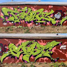 American Tag Team back again!! @e_a_s_t_1 #attallday #tasteone #eastone #stylemonsters #denver #graffiti #colorado #2016