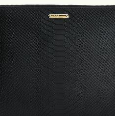 GIGI NEW YORK UBER BLACK PYTHON CLUTCH