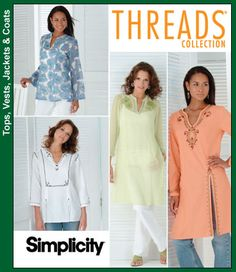Pattern Description: Tunic in two lengths with trim variations