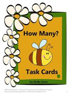 Math Task Cards Counting How Many?