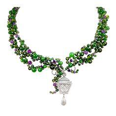 VAN CLEEF & ARPELS 'Belvedere' Necklace. Diamonds, jade, peridot, and Sapphires.