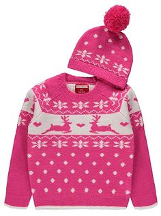 Christmas Fairisle Jumper and Hat Set, read reviews and buy online at George at ASDA. Shop from our latest range in Kids. Keep your little one super-snuggly ...