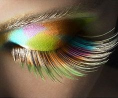 Cool eye-make up