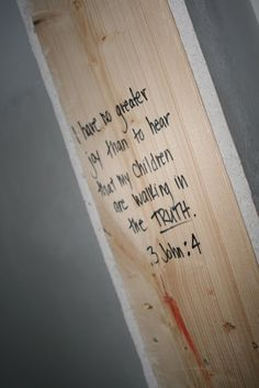 Write scripture on the house in the construction stage!