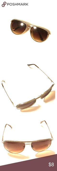 Lane Bryant Bedazzled Aviators These gold tone shades are the perfect mix of trendy and classic. Lane Bryant Accessories Glasses