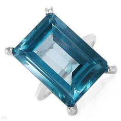 Bright Treasures : Ring - Blue Spinel 16.00ctw silver size 7
