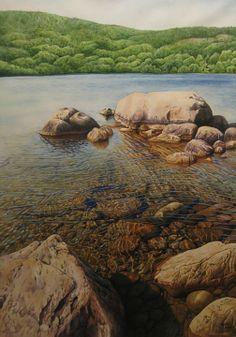 hyperrealism underwater rocks - Google Search