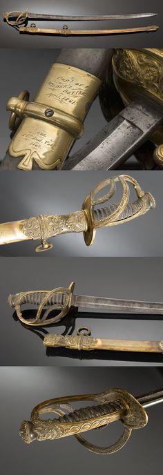 Civil War Presentation Sword of Charles Anderson, 93rd OVI, 1861.