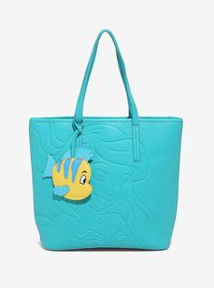 Look at this tote bag. Isn't it neat? | The Little Mermaid Debossed Tote Bag