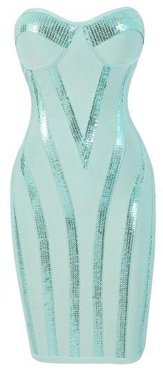 Nice Boutique Dresses AQUA SEQUIN STRAPLESS BANDAGE DRESS... Check more at http://mydresses.ga/fashion/boutique-dresses-aqua-sequin-strapless-bandage-dress-2/