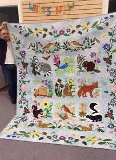 Woodland Creatures Beaver Block Quilts Quilt Patterns