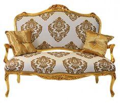 Casa Padrino Barock Sofa Weiss Gold Muster / Gold   Italienischer Stil   Barock  Möbel