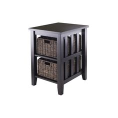 Have to have it. Winsome Morris Side Table with 2 Foldable Baskets $99.00