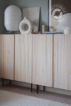 Pretty Movement - The place to be to check out inspiring IKEA Hacks. - Prettypegs - IKEA Ivar Hack with Wooden Rods Ikea Ivar Hack, Ikea Ivar Cabinet, Interior Decorating, Interior Design, Furniture Legs, Hacks Diy, Interior Exterior, Diy On A Budget, Home Projects