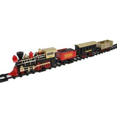 Battery-Operated Western Express, Gold and Red, Multicolor