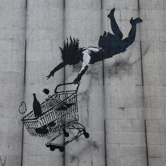 STREET ART UTOPIA » We declare the world as our canvas » street_art_banksy Shop till you drop 1