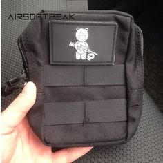 Military Molle Waist Bag Tactical EDC Pouches Outdoor Belt Utility Pouch Tool Zipper Waist Pack Hunting Bags With Patch.