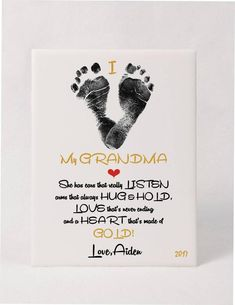 Mothers Day Crafts For Kids Discover Toddler & Baby Footprint Art Plaque w/Poem using childs actual prints. I love Grandma love Mommy Special Gift Toddler & Baby Footprint Art Plaque w/Poem using childs Grandma Crafts, Grandparents Day Crafts, Mothers Day Crafts For Kids, Fathers Day Crafts, Baby Fathers Day Gift, First Mothers Day Gifts, Grandparent Gifts, Baby Footprint Crafts, Baby Feet Crafts
