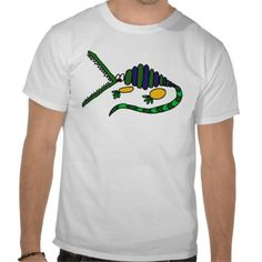 Funky Crocodile Abstract Art Tshirt #crocodile #alligator #art #abstract #shirt #zazzle #petspower #animals