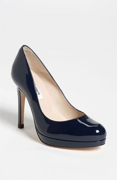 L.K. Bennett 'Sledge' Pump (Nordstrom Exclusive Color) available at #Nordstrom. Love the Navy Blue.