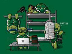 Teenage Mutant Ninja Turtle Roommates