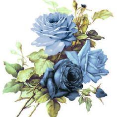 Vintage Image Art Deco Princess Fairy Furniture Transfers | Etsy Retro Images, Vintage Images, French Vintage, Cabbage Rose Bouquet, Cabbage Roses, French Images, Fairy Furniture, Blue Hydrangea, Thing 1