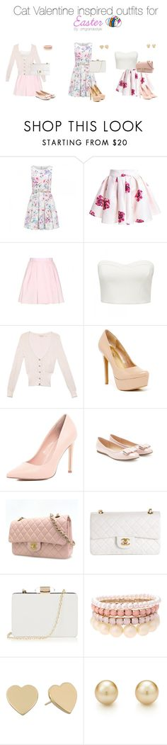 """Cat Valentine inspired outfits for Easter"" by dashinggrande ❤ liked on Polyvore featuring Forever New, Carven, GUESS, Jessica Simpson, River Island, Forever 21, Chanel, Oasis, Lipsy and Kate Spade"
